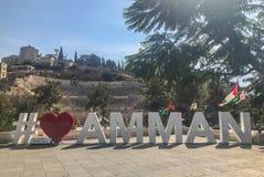 Amman hashtagstad jordan arkivbild