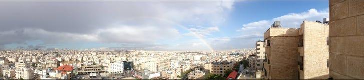 Amman himmelpanorama Arkivfoton