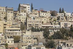 Amman, Jordan, December 22nd, 2015, Cityscape of Amman Royalty Free Stock Photography