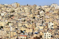 Amman, Jordan. Jabal al Hussein area in Amman, Jordan Royalty Free Stock Photos