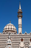 Amman, Jordan, Middle East, skyline, mosque, Abu Darwish Mosque, islam, religion, place of worship. Jordan, 01/10/2013, details of Abu Darwish Mosque, built in Stock Photo