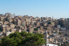 Amman, Jordan, Middle East, skyline, citadel, old city. Jordan, Middle East, 02/10/2013: view of the skyline of Amman, the capital and most populous city of the stock image