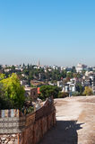 Amman, Jordan, Middle East, skyline from the Citadel. Jordan, 02/10/2013: view of the skyline of Amman, the capital and most populous city of the Hashemite royalty free stock image