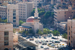 Amman, Jordan, Middle East. Jordan, 02/10/2013: view of the skyline of Amman, the capital and most populous city of the Hashemite Kingdom of Jordan, with the royalty free stock images