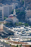 Amman, Jordan, Middle East. Jordan, 02/10/2013: view of the skyline of Amman, the capital and most populous city of the Hashemite Kingdom of Jordan, with the stock photo