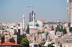 Amman, Jordan, Middle East. Jordan, 02/10/2013: view of the skyline of Amman, the capital and most populous city of the Hashemite Kingdom of Jordan, with the stock image