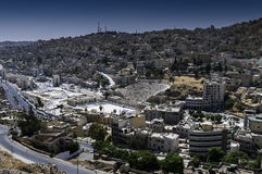 Amman Jordan. Panorama of city Amman in Jordan Royalty Free Stock Photo