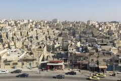 Amman, Jordanie, le 22 décembre 2015, paysage urbain d'Amman Photo libre de droits