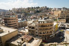 AMMAN, JORDANIE - 11 MARS 2018 : Ville d'Amman, la capitale de Jo Photos stock