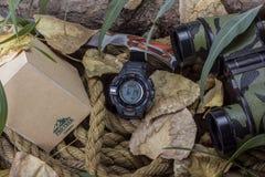 AMMAN, JORDANIEN - 20. AUGUST 2017: Die Protrek-Uhr mit einer dreifachen Sensor-Uhrreihe Uhren vom Elektronikhersteller stockbilder