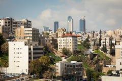 AMMAN, JORDANIEN - 11. MÄRZ 2018: Stadt von Amman, die Hauptstadt von Jo Lizenzfreies Stockbild