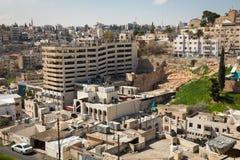 AMMAN, JORDANIEN - 11. MÄRZ 2018: Stadt von Amman, die Hauptstadt von Jo Stockbilder