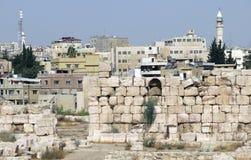 Amman la capitale de la Jordanie et des maisons Photo libre de droits