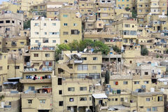Amman la capitale de la Jordanie et des maisons Photo stock
