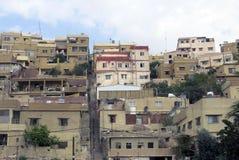 Amman la capitale de la Jordanie et des maisons Image stock