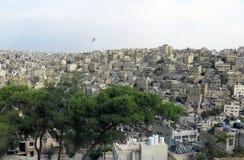 Amman la capitale de la Jordanie et des maisons Photos stock