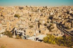 Amman overzicht, Jordanië, het concept van de Midden-Oostenreis De vakantie van de zomer Stedelijk Landschap 3d geef illustratie  Royalty-vrije Stock Foto's