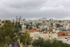 Amman stad - Jordan Gate-torens mooie hemel Stock Foto