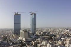 Amman stad - Jordan Gate-winter van de torens de mooie hemel Stock Foto's