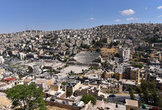 Amman stad, Jordanië stock foto's