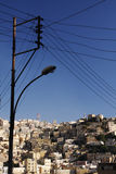 Amman town. One of the hilltop neighborhoods of Amman, the capital of Jordan royalty free stock images