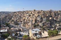 Amman-Vororte in der Tagesleuchte Lizenzfreie Stockfotografie