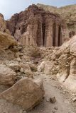 Ammerm pillars. Are columns made of soft pink nubian sandstone north to city of Eilat - Israel Royalty Free Stock Photos