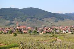Ammerschwihr dans le vignoble d'Alsace Photo libre de droits