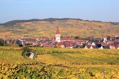 Ammerschwihr dans le vignoble d'Alsace Image stock