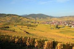 Ammerschwihr dans le vignoble d'Alsace Photos libres de droits