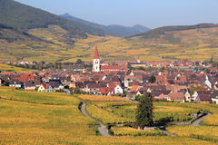 Ammerschwihr in the vineyard of Alsace Royalty Free Stock Photo