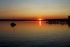Ammersee in Upper Bavaria Stock Images