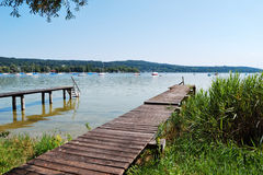 Ammersee in Upper Bavaria Royalty Free Stock Photography