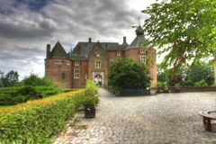 ammersoyen slottet Royaltyfri Fotografi