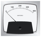 Ammeter measures current Stock Photography
