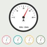 Ammeter Vector Illustration. Eps 10 Stock Image