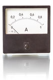 Ammeter on a white Royalty Free Stock Photos