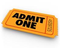 Ammetta che si esprime il CA dell'entrata di ammissione di concerto del teatro del cinema del biglietto illustrazione vettoriale