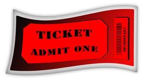Ammetta un biglietto Illustrazione Vettoriale