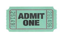Ammetta un biglietto Fotografia Stock