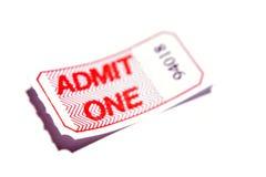 Ammetta un biglietto immagine stock