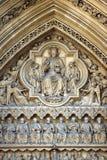 在伦敦英国浅浮雕的威斯敏斯特Ammey入口 库存照片