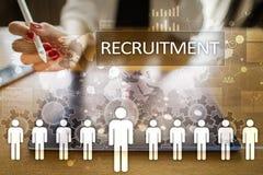 Amministrazione delle risorse umane, ora, assunzione, direzione e team-building Immagini Stock