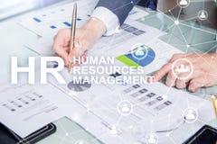 Amministrazione delle risorse umane, ora, Team Building e concetto di assunzione su fondo vago fotografie stock