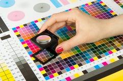 Amministrazione di colore nella produzione della stampa Fotografie Stock