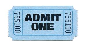 Ammissione-Biglietto Fotografia Stock Libera da Diritti