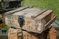 Ammo box from Second World War Royalty Free Stock Images