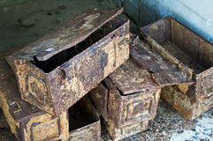 Ammo boxes Stock Photo