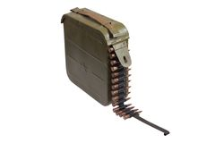 Ammo bullet case with chain of ammo Stock Image