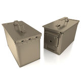 Ammo can on white background Royalty Free Stock Photos